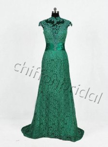 Green bridal gown, by chiffonbridal on etsy.com