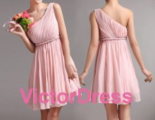 Pink bridesmaid dress, by VictorDress on etsy.com