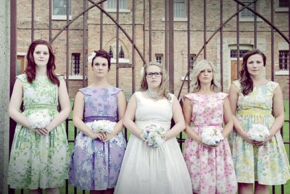 Print bridesmaid dresses, by sohomode on etsy.com