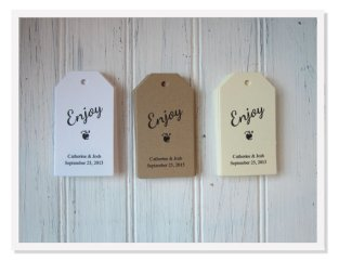 Wedding favour tags, by greenridge on etsy.com