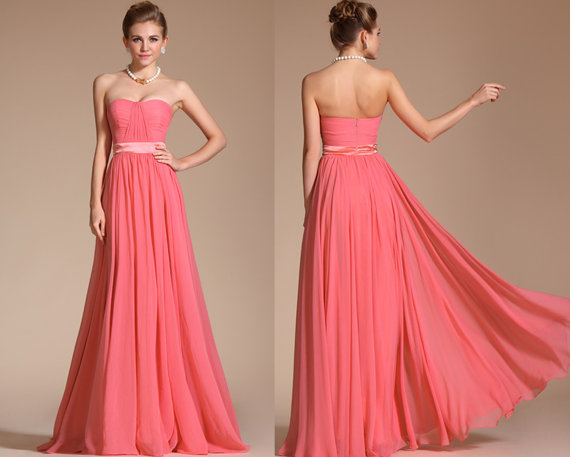 Coral Bridesmaid Dress – Www.etsy.com/shop/STHNAB