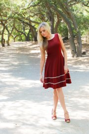 Oxblood bridesmaid dress - www.etsy.com/shop/FleetCollection