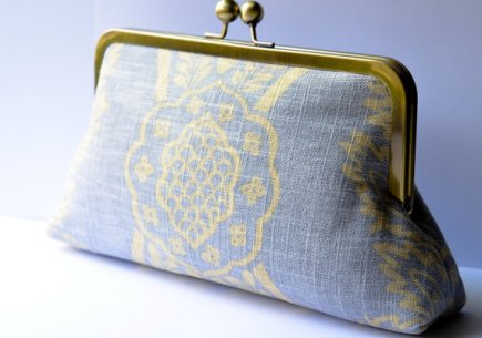 Dusty blue clutch purse - www.etsy.com/shop/TGLine