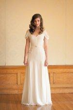 Ivory silk crepe wedding dress (US$1710) - www.etsy.com/shop/JillianFellers