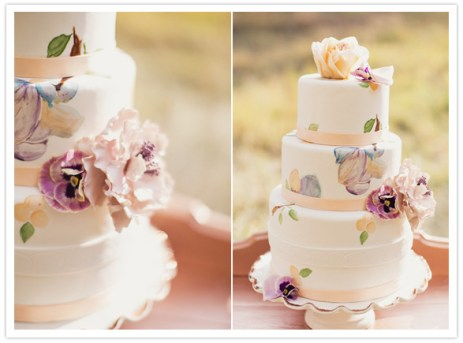 Peach and purple wedding cake idea {via emmatayloraa.blogspot.com}