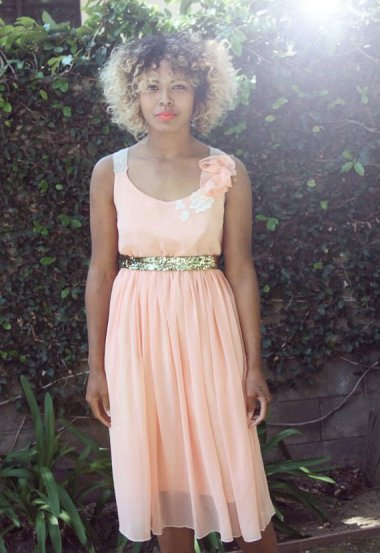 Peach bridesmaid dress - www.etsy.com/shop/whitecollections