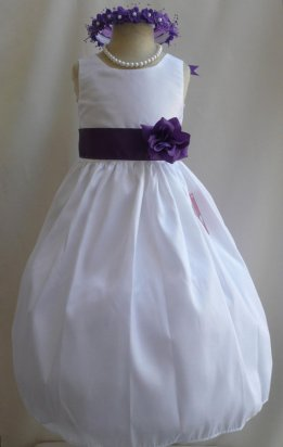 White and purple flower girl dress - www.etsy.com/shop/NollaCollection