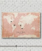 World map personalised guest book - www.etsy.com/shop/MarshmallowInkLLC