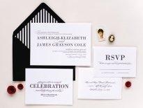 Black and white letterpress invitation - www.etsy.com/shop/laurenchismpaper