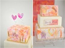 Watercolour wedding cake inspiration {via mercinewyork.com}