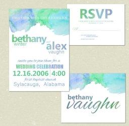 Watercolour wedding invitation - www.etsy.com/shop/ForThisChildArt