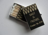 Personalised matchbox wedding favours - www.etsy.com/shop/punchpaper