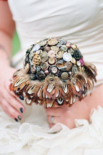 Steampunk bouquet - www.etsy.com/shop/iheartbuttonsuk
