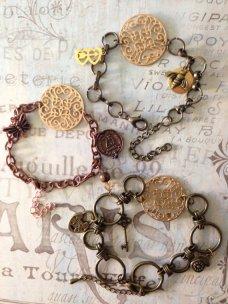 Steampunk bracelets - www.etsy.com/shop/StyleMeIndie