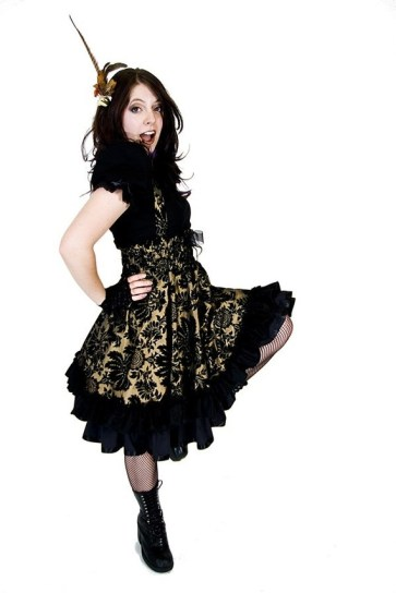 Steampunk bridesmaid dress - www.etsy.com/shop/KMKDesignsllc