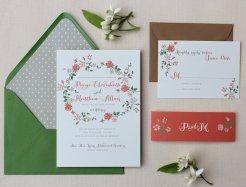 Autumn colours wedding invitation - www.etsy.com/shop/papela