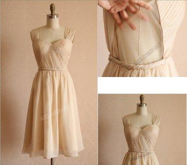 Champagne bridesmaid dress - www.etsy.com/shop/misdress