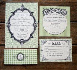 French Baroque-style wedding invitation - www.etsy.com/shop/Bdesignspaper