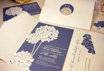 Hydrangea wedding invitation - www.etsy.com/shop/vohandmade