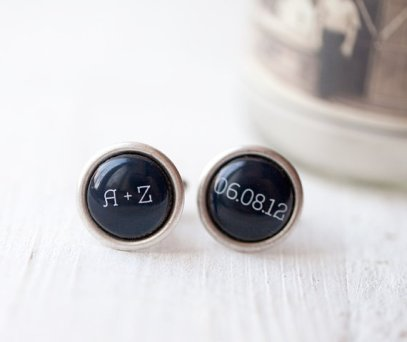 Personalised cufflinks - www.etsy.com/shop/BeautySpot