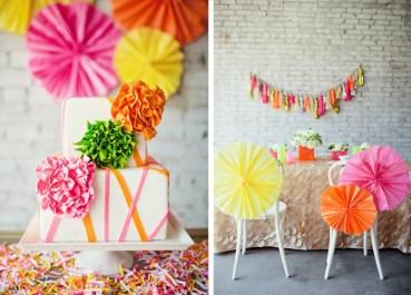 White and neon wedding inspiration {via invitationcelebration.com}