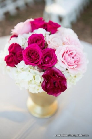 Fuchsia and gold inspiration {via thefrenchbouquettulsa.com}