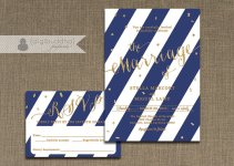 Navy and gold invitation - www.etsy.com/shop/digibuddhaPaperie
