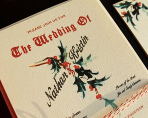 Christmas wedding invitation - www.etsy.com/shop/KayleighDuMond