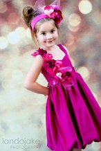 Fuchsia flower girl dress - www.etsy.com/shop/ChildrenCouture