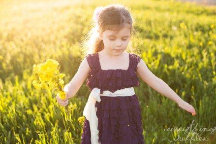 Purple flower girl dress - www.etsy.com/shop/EverythingRuffles