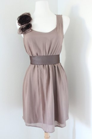 Taupe bridesmaid dress - www.etsy.com/shop/whitecollections