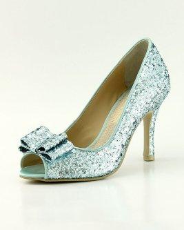 Blue glitter heels - www.etsy.com/shop/ammiejoyce