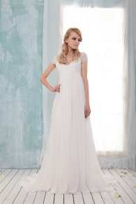 Chiffon wedding dress US$398 - www.etsy.com/shop/BridalLounge