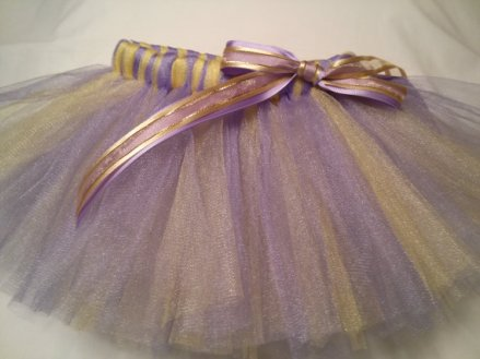 Lavender and gold flower girl tutu - www.etsy.com/shop/JustTutus