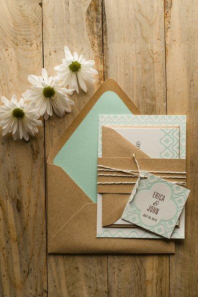 Mint wedding invitation - www.etsy.com/shop/FlairNecessities