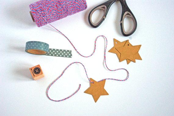 Star-shaped tags - www.etsy.com/shop/GodSavetheTeatime
