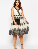 Chi Chi London Plus Wrap Embroidered Midi Dress, from asos.com