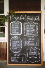 Fancy chalkboard seating plan {via weddingwire.com}