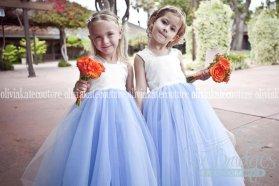 Blue and white flower girl dress - www.etsy.com/shop/OliviaKateCouture