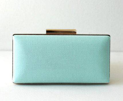 Light minty-blue clutch purse - www.etsy.com/shop/MabelCollections