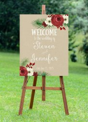 Printable Christmas wedding sign - www.etsy.com/shop/OurFriendsEclectic