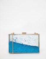 Skinnydip Liquid Glitter Clutch in Blue, from asos.com