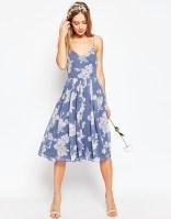 Asos rose print bridesmaid dress - asos.com