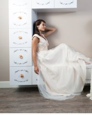 Satin and tulle wedding dress $350 - www.etsy.com/shop/MaudiKa