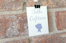 Cornflower blue table numbers - www.etsy.com/shop/lindsayannartistry