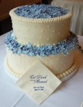 Cornflower blue wedding cake inspiration - via courtneysconfections.net