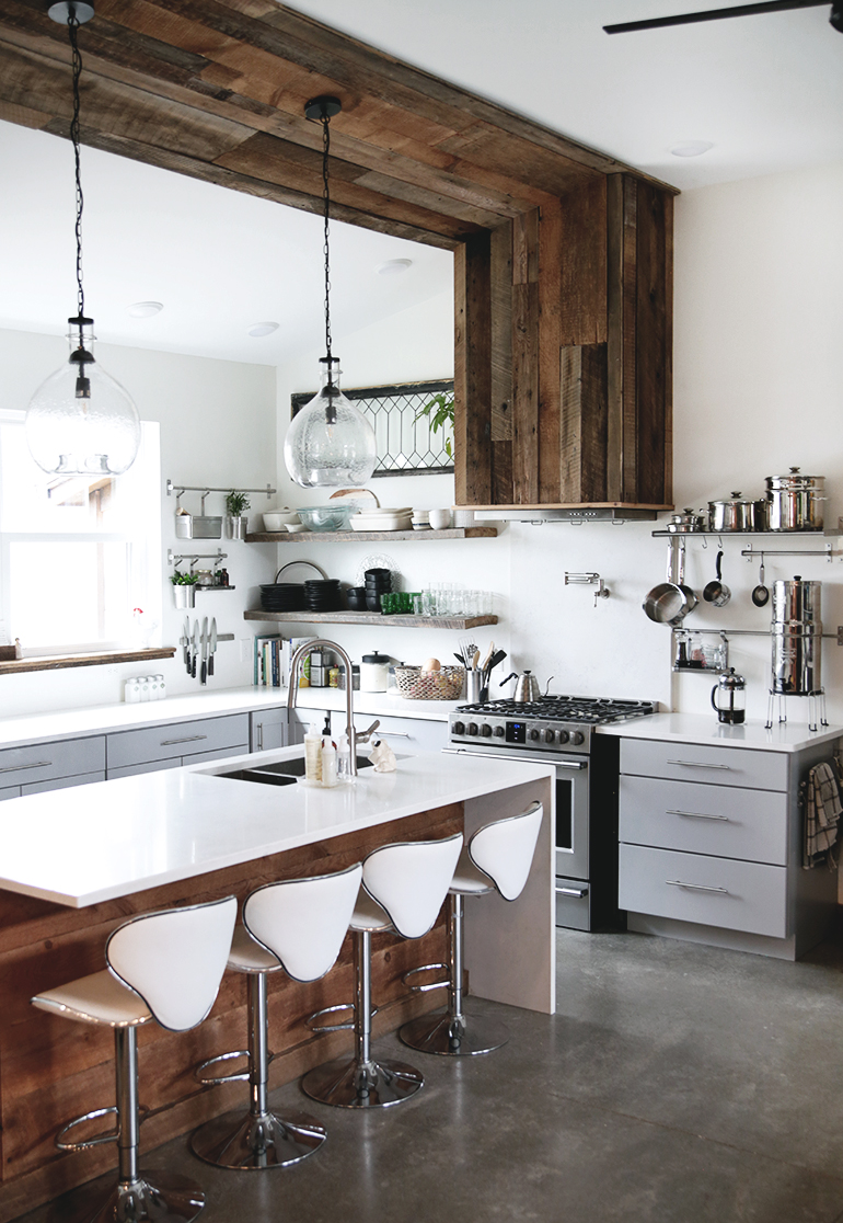 Modern Farmhouse Kitchen - The Merrythought on Modern Kitchens  id=25349