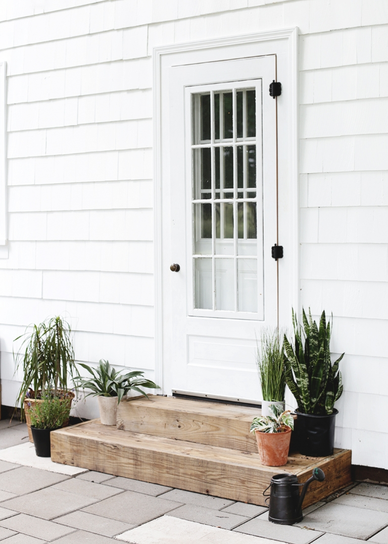 diy outdoor wood steps the merrythought