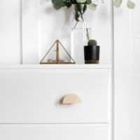 DIY Wooden Half Circle Knobs