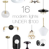 16 Modern Lights for Under $100